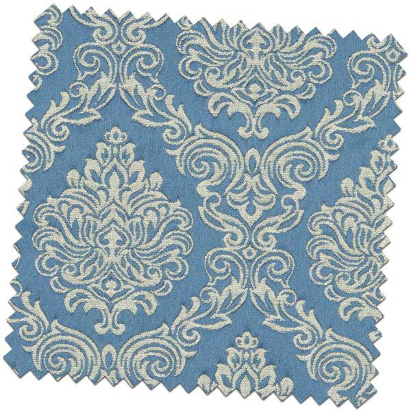 Bill Beaumont Amour Belle Ink Blue Fabric for made to measure roman blinds