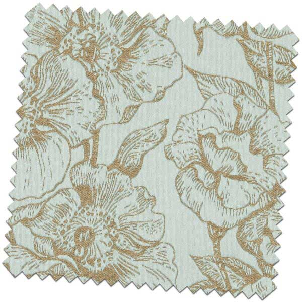 Bill Beaumont Amour Bouquet Duck Egg Fabric for made to measure roman blinds
