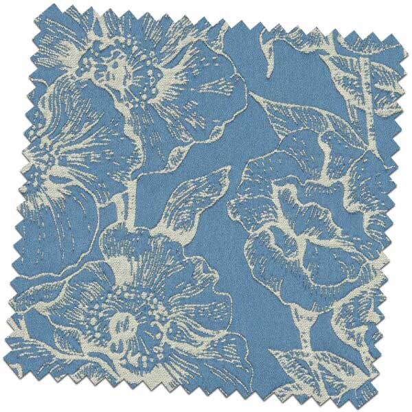 Bill Beaumont Amour Bouquet Ink Blue Fabric for made to measure roman blinds